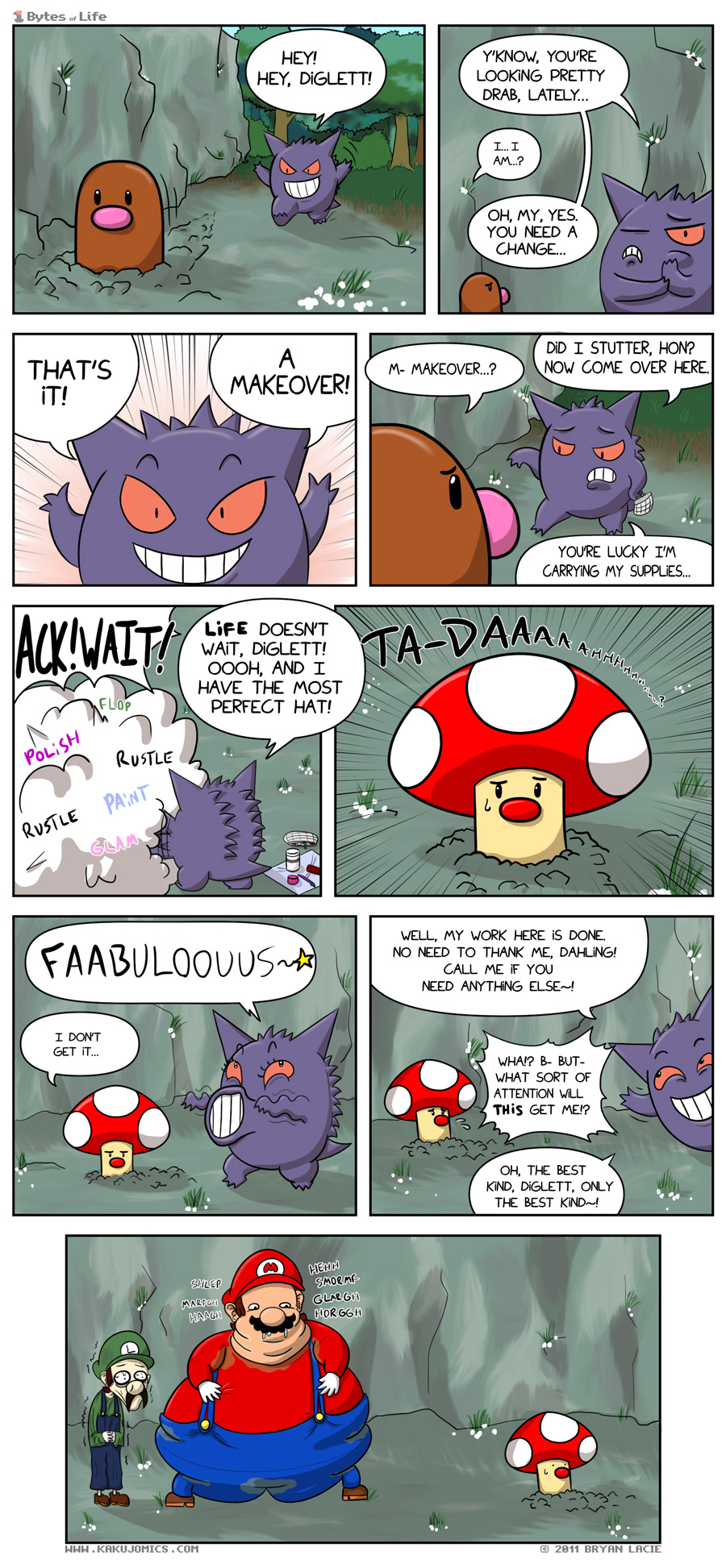 I guess you could say... *sunglasses* Diglett is in a Ghastly predicament...