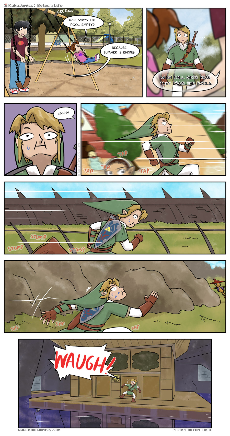 Don't pretend like it would have helped you, Link.