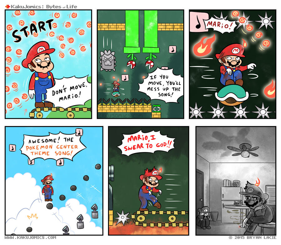 DON'T YOU BACKFLIPPING DO IT MARIO